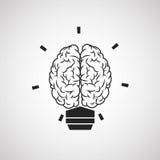 Brain design. organ icon. Flat illustration,  graphic Stock Photo