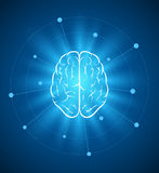 Brain design. Vector brain design template. Elements are layered separately in vector file Royalty Free Stock Photo