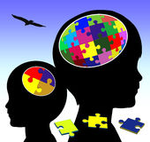 Brain Development. Concept sign of promoting intellectual power in early childhood education Stock Photo