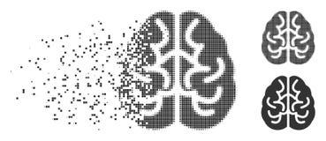 Brain Dispersed Pixel Halftone Icon Photo stock