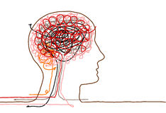 Brain &  doodle Royalty Free Stock Photos