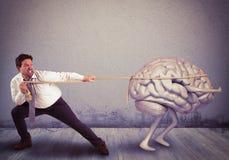 Brain drain Royalty Free Stock Photo