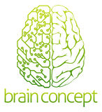Brain electrical circuit design. An abstract illustration of a brain electrical circuit concept design Royalty Free Stock Photo
