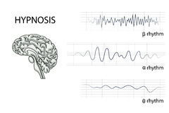 The brain electrical waves Royalty Free Stock Photography