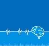 Brain electromagnetic impulse activity.  Royalty Free Stock Photography