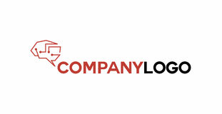 Brain electronic logo Stock Images