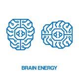 Brain energy sign. Vector illustration. Royalty Free Stock Photo