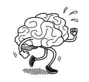 Brain Exercise Doodle Lizenzfreie Stockbilder
