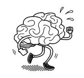 Brain Exercise Doodle Royaltyfria Bilder