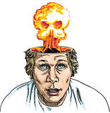 Brain Explosion Royalty Free Stock Photography