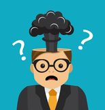 Brain explosion when it is unclear royalty free illustration