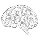 Brain filled with ideas Royalty Free Stock Photo