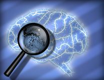 Brain Fingerprint Stock Photography
