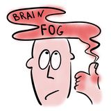 Brain fog and rheumatoid arthritis royalty free illustration