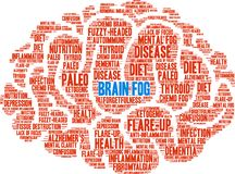 Brain Fog Word Cloud. On a white background Royalty Free Stock Image