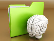 Brain Folder Royalty Free Stock Photos