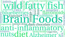 Brain Food Word Cloud stock illustrationer