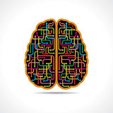 Brain forming of colorful arrows Royalty Free Stock Image