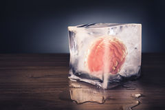 Brain freeze concept with dramatic lighting Royalty Free Stock Image