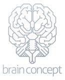 Brain Front Concept Fotografia Stock