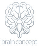 Brain Front Concept Stock Photo