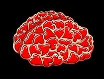Brain full of love Stock Image
