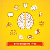 Brain function icons set Royalty Free Stock Image