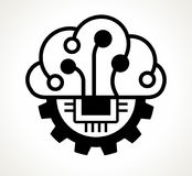 Brain and gear thinking concept. Stock Photography