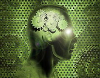 Brain Gears Royalty Free Stock Image