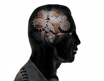 Brain Gears Stock Images