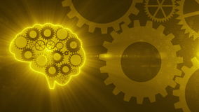 Brain gears working_with_light_4K. Brain gears working_with_light stock footage