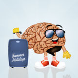The brain goes on vacation Stock Photos