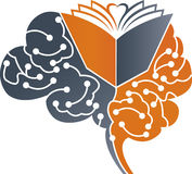 Brain graduate logo Stock Photo