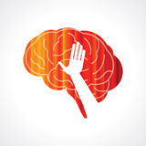 Brain with hand creative concept Royalty Free Stock Photography