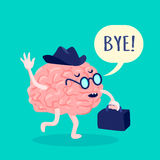 Brain In Hat Illustration Royalty Free Stock Images