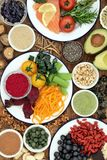 Brain Health Food som drar nytta kognitiva funktioner royaltyfria foton