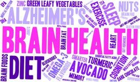 Brain Health Word Cloud illustration libre de droits