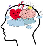 Brain and heart balance concept vector Stock Images