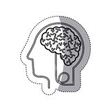 brain hosting data icon stock Royalty Free Stock Photo