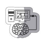 brain hosting data icon stock Royalty Free Stock Image