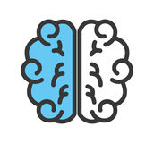 Brain human isolated icon Royalty Free Stock Images
