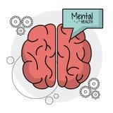 Brain human mental health functions. Vector illustration eps 10 Stock Photos