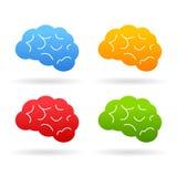 Brain Icon Arkivbild