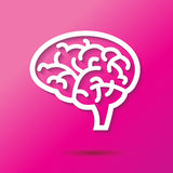 Brain Icon Royaltyfri Fotografi