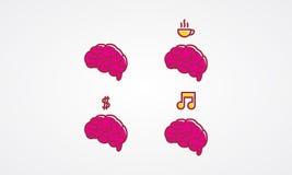 Brain Icon Arkivfoton