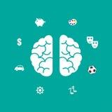 Brain Icon Images libres de droits