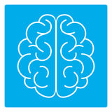 Brain Icon immagini stock