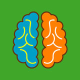 Brain Icon Arkivbild