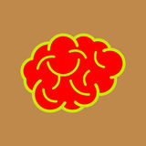Brain Icon Royaltyfri Foto