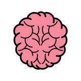Brain Icon Arkivfoton